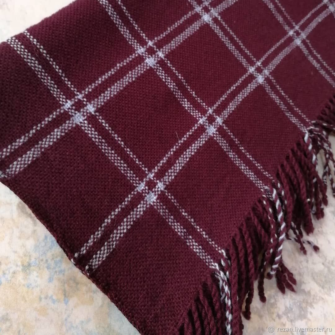 Handmade Merino woven scarf, Scarves, Rubtsovsk,  Фото №1