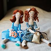Куклы и игрушки ручной работы. Ярмарка Мастеров - ручная работа Задорные куклы Даша и Глаша. Handmade.
