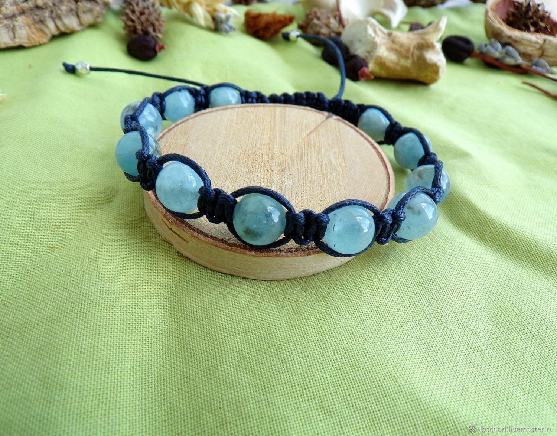 Shambala bracelet with aquamarine, Ritual attributes, Ekaterinburg,  Фото №1