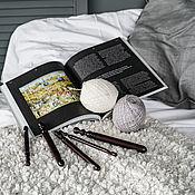 Материалы для творчества handmade. Livemaster - original item Set of wooden knitting hooks from 5 pieces KN29. Handmade.