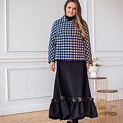Одежда handmade. Livemaster - original item A chic boho skirt is black to the floor on a crepe yoke. Handmade.