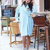 Пальто ручной работы. Ярмарка Мастеров - ручная работа Летнее пальто нежно голубого цвета. Handmade.