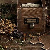 """Косметика ручной работы. Ярмарка Мастеров - ручная работа Лесная коробочка """"В глуши лесной"""" (свеча и мыло). Handmade."""