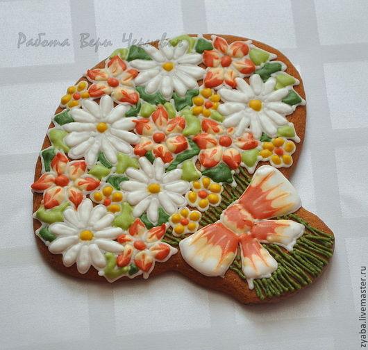 Кулинарные сувениры ручной работы. Ярмарка Мастеров - ручная работа. Купить Пряничный букет цветов для любимых в подарочной коробочке. Handmade.