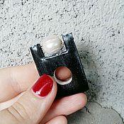 Украшения ручной работы. Ярмарка Мастеров - ручная работа Геометрия кольцо с жемчугом. Handmade.
