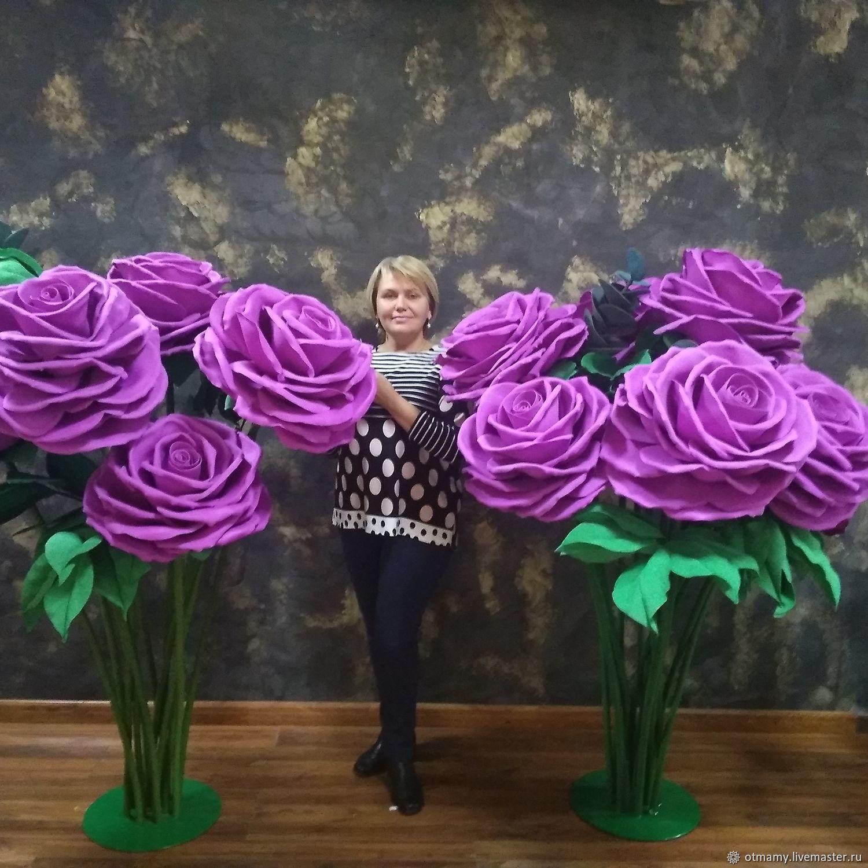 Праздничное украшение-ростовые цветы Розы, Композиции, Москва,  Фото №1
