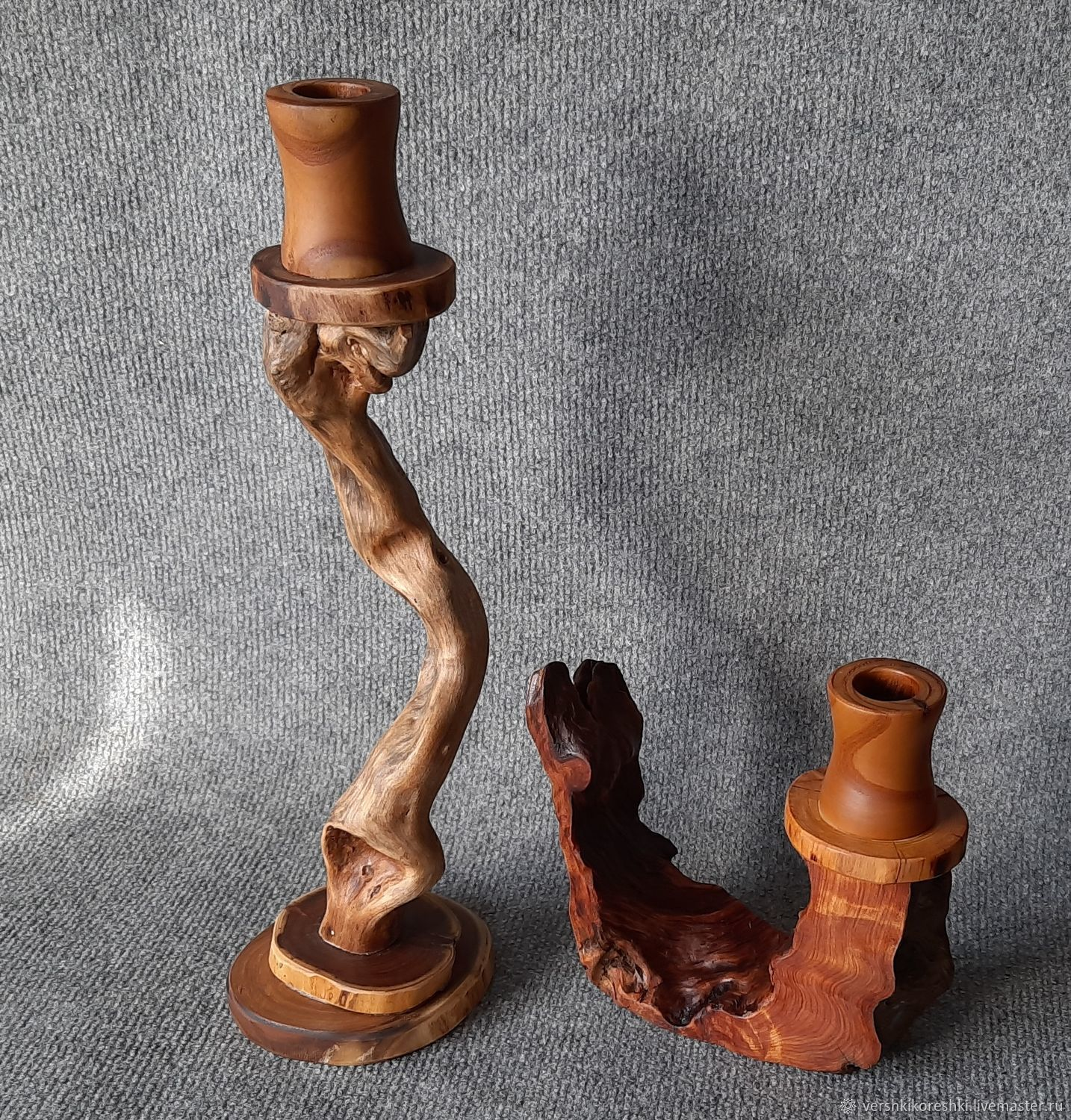 candle holder from wood, Candlesticks, Chernomorskoe,  Фото №1
