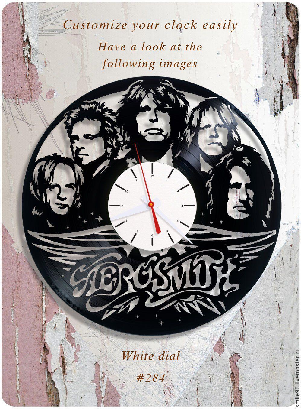 "Часы из пластинки ""Aerosmith"", Часы для дома, Екатеринбург, Фото №1"