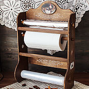 Для дома и интерьера handmade. Livemaster - original item Shelf organizer for rolls country