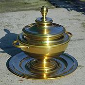 Винтаж ручной работы. Ярмарка Мастеров - ручная работа винтажная латунная ваза. Handmade.
