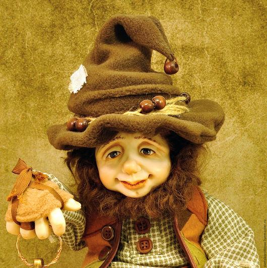 Коллекционные куклы ручной работы. Ярмарка Мастеров - ручная работа. Купить Балфур. Handmade. Гном, сказочный персонаж, фимо