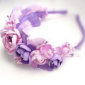 Украшения handmade. Livemaster - original item Headband with flowers, wreath of foamiran, headband for girls. Handmade.