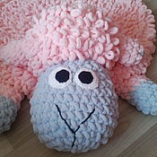 Мягкие игрушки ручной работы. Ярмарка Мастеров - ручная работа Игрушки: Игрушки: детский коврик барашек. Handmade.