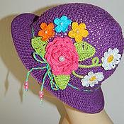Работы для детей, ручной работы. Ярмарка Мастеров - ручная работа Шляпка для девочки Клумба 2, панамка, шляпа. Handmade.