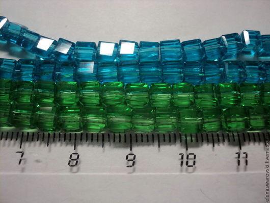 Для украшений ручной работы. Ярмарка Мастеров - ручная работа. Купить Кубики стекло (Чехия). Handmade. Разноцветный, голубой
