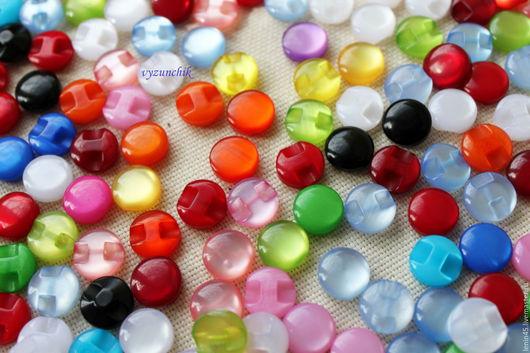 Шитье ручной работы. Ярмарка Мастеров - ручная работа. Купить Пуговицы прозрачные 12,5 мм 16 цветов. Handmade.