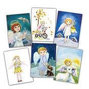 Открытки handmade. Livemaster - original item Angels & seasons Set of 6 postcards. Handmade.
