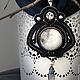 """Кулоны, подвески ручной работы. Ярмарка Мастеров - ручная работа. Купить Кулон сутажный """"После полуночи"""". Handmade. Черный, полнолуние"""