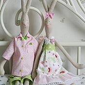 Куклы и игрушки ручной работы. Ярмарка Мастеров - ручная работа Зайчики - Неразлучники. Handmade.