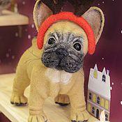Куклы и игрушки ручной работы. Ярмарка Мастеров - ручная работа Рождественский бульдог. Handmade.