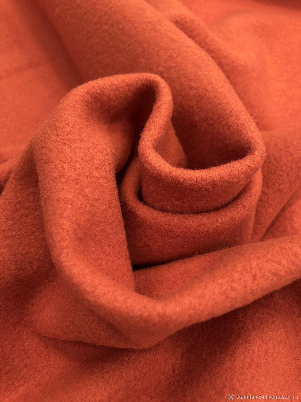 Валяная шерсть , лоден пальтовый оранжевыйАртикул: KL1808031, Ткани, Новосибирск,  Фото №1