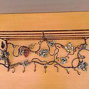 Для дома и интерьера ручной работы. Ярмарка Мастеров - ручная работа Вешалка бабочка и виноград. Handmade.