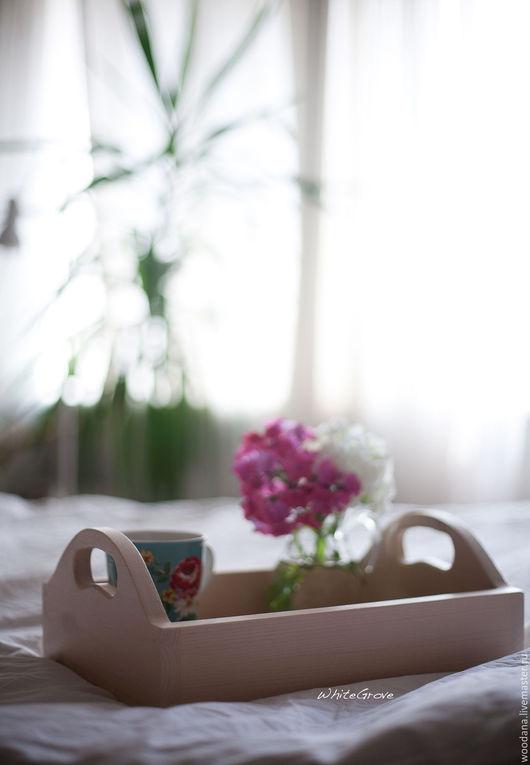 """Кухня ручной работы. Ярмарка Мастеров - ручная работа. Купить Деревянный поднос """"Нежное утро"""". Handmade. Поднос для кухни, кухня"""
