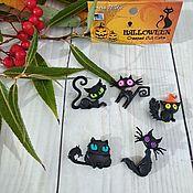 Материалы для творчества handmade. Livemaster - original item Buttons decorative Cats. Handmade.