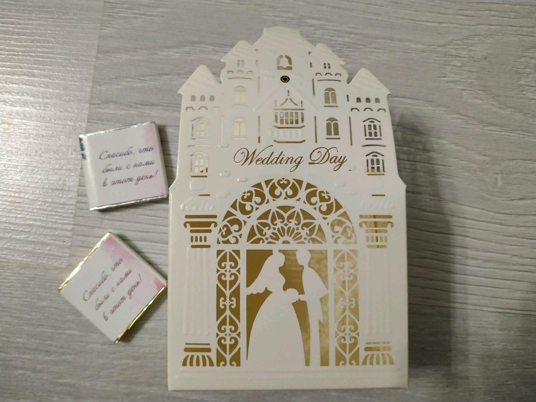Подарки на свадьбу ручной работы. Ярмарка Мастеров - ручная работа. Купить Коробка складная со свадебным дизайном. Handmade.