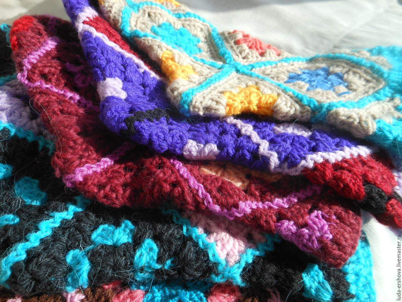 теплые носки из бабушкиных квадратов купить в интернет магазине на