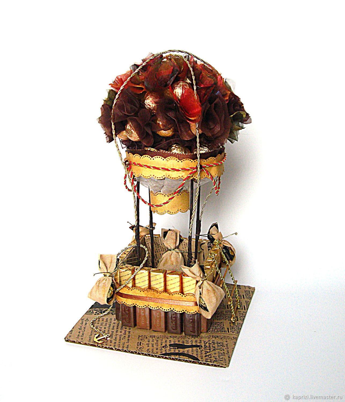 Воздушный шар из конфет, Съедобные букеты, Москва,  Фото №1