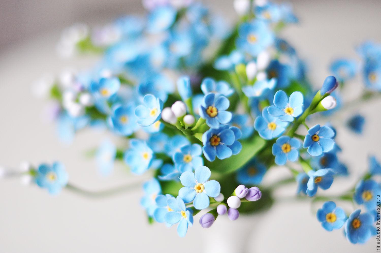 Цветы самаре, букет с незабудками фото