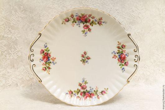 Винтажная посуда. Ярмарка Мастеров - ручная работа. Купить Блюдо для десерта, Англия. Handmade. Белый, английский фарфор, винтаж