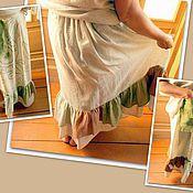 Одежда handmade. Livemaster - original item Skirt long linen styled boho. Handmade.