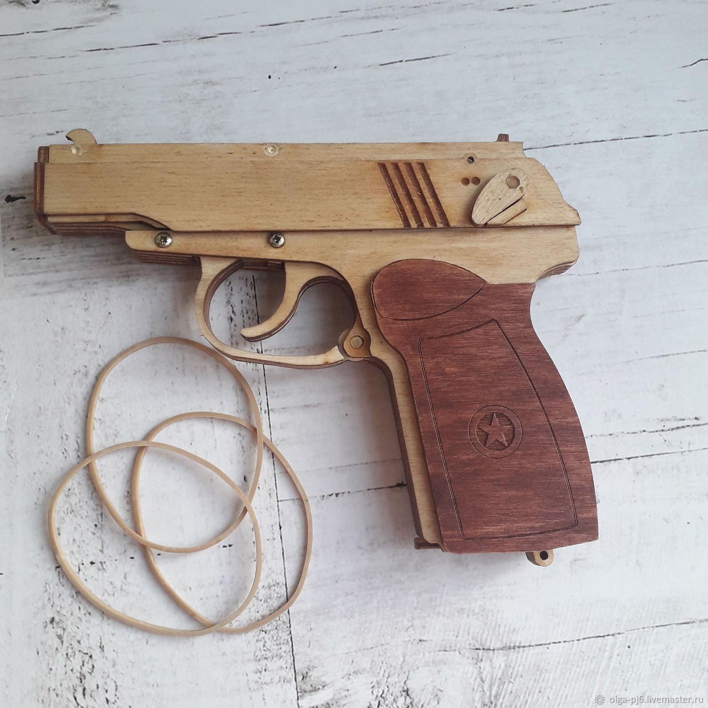 Оружие: пистолет ПМ из дерева, Сувенирное оружие, Чита,  Фото №1