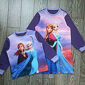 Одежда детская handmade. Livemaster - original item Sweatshirt or dress for girls