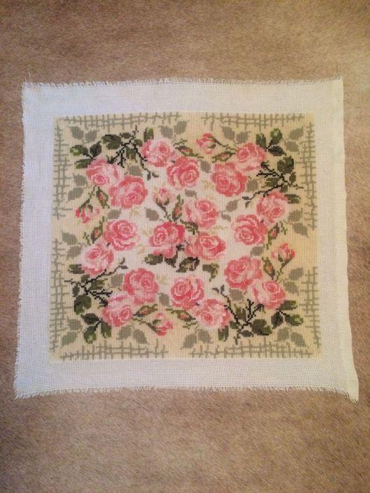 Текстиль, ковры ручной работы. Ярмарка Мастеров - ручная работа. Купить Подушка розы. Handmade. Вышивка, подарок девушке