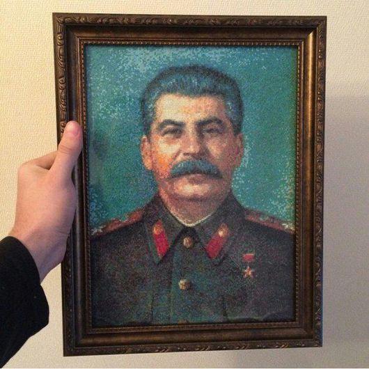 Люди, ручной работы. Ярмарка Мастеров - ручная работа. Купить Сталин. Handmade. Зеленый, сталин, история, советская эпоха