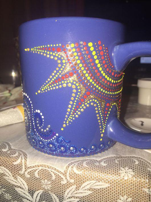 Кружки и чашки ручной работы. Ярмарка Мастеров - ручная работа. Купить Кружка Море и Солнце. Handmade. Синий, кружка в подарок