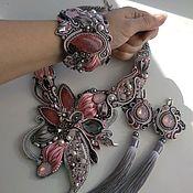 Украшения handmade. Livemaster - original item Kit pink-grey Options. Handmade.