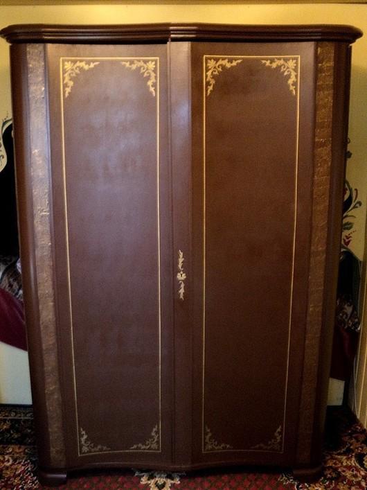 """Мебель ручной работы. Ярмарка Мастеров - ручная работа. Купить Шкаф """"Шоколадный граф"""". Handmade. Старая мебель декор, коричневый"""