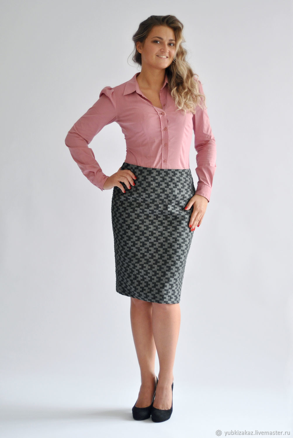 Pencil skirt with geometric pattern, Skirts, Novosibirsk,  Фото №1