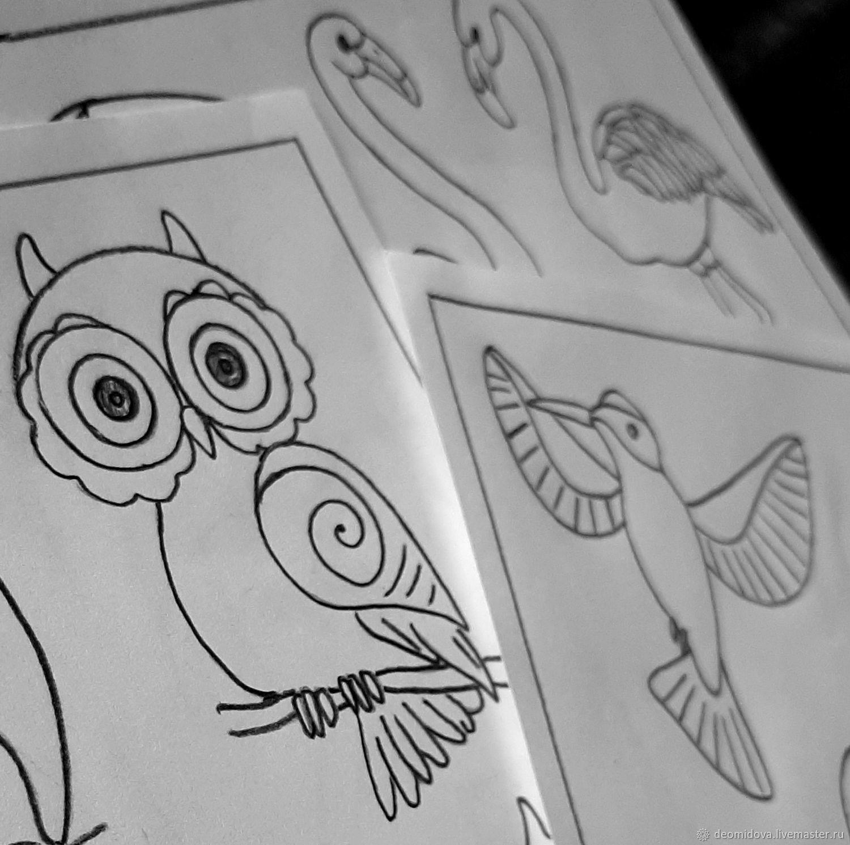 Набор выкроек для брошей Птицы, Выкройки для шитья, Новочеркасск,  Фото №1