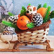"""Набор мыла ручной работы """"Новый год к нам мчится"""" с символом года."""