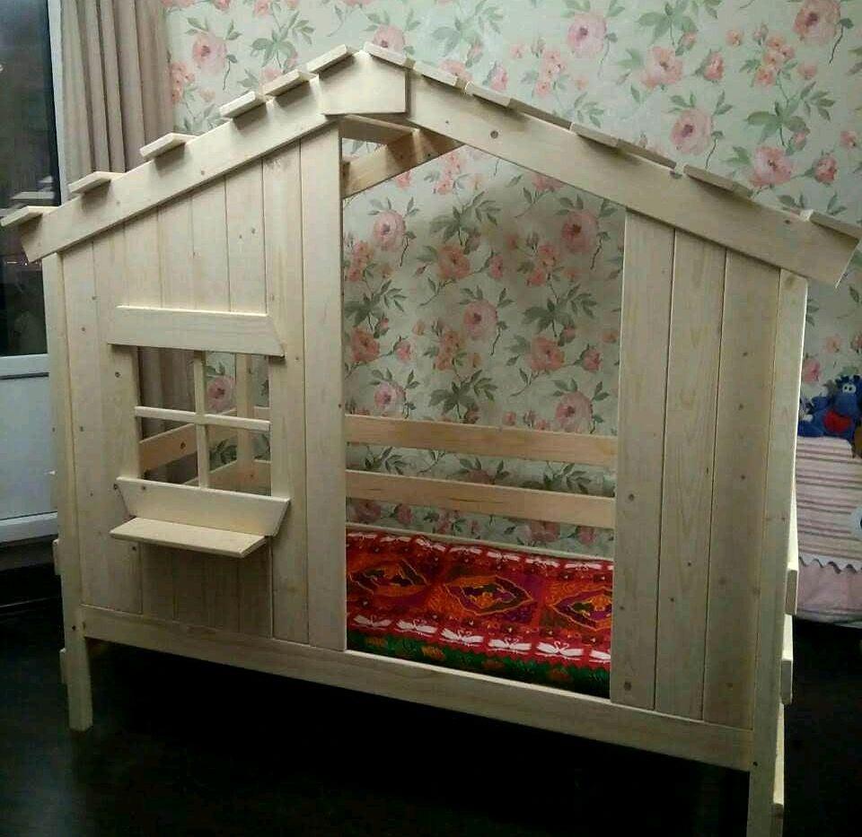 Кроватка-домик  из массива дерева, Кровати, Санкт-Петербург,  Фото №1