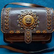 "Канцелярские товары handmade. Livemaster - original item Leather bag ""AFRICA"". Handmade."