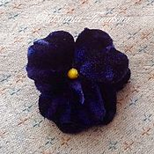 Украшения ручной работы. Ярмарка Мастеров - ручная работа цветок из ткани бархатная анютка. Handmade.