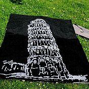 Пледы ручной работы. Ярмарка Мастеров - ручная работа Пизанская башня. Handmade.