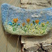"""Украшения ручной работы. Ярмарка Мастеров - ручная работа """"Весна""""Украшение-трансформер из шерсти вышитое. Handmade."""