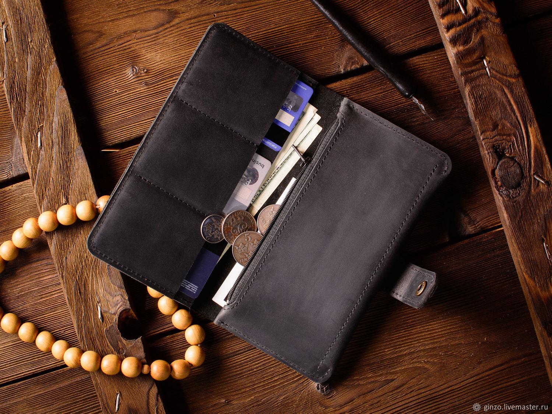 1121e82a5d9b Кожаный кошелек -Esquire- портмоне для денег из кожи черного цвета ...